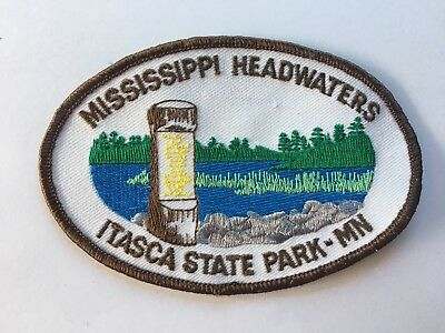 Vintage ITASCA STATE PARK PATCH Minnesota - Mississippi Headwaters