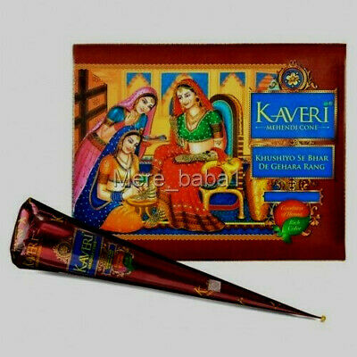 Wholesale Price ! Original Natural Kaveri Henna Bridal Mehndi Cone Pure & Fresh