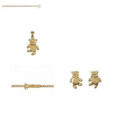Coffret Bijoux Ourson Or Jaune 24 Carats GF*