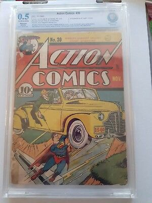 Action Comics # 30 Superman: A Summer Snow Zolar 1940 CBCS 0.5 DC Comic Book