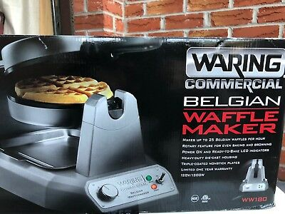 Waring WW180 Commercial Belgian Waffle Maker 120V, 1200W/ GREAT CONDITION!!