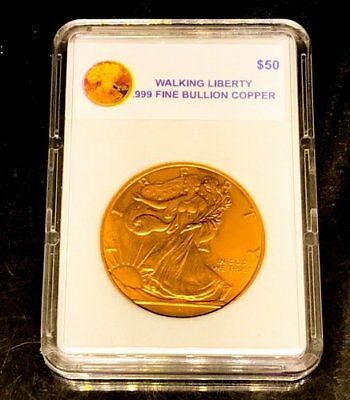 American Walking Liberty Quarter 1 Troy Ounce .999 Pure Bullion Copper..NEW