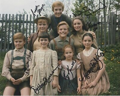 ALL 7 VON TRAPP CHILDREN Signed 8x10 Photo from The Sound of Music - RARE!!!