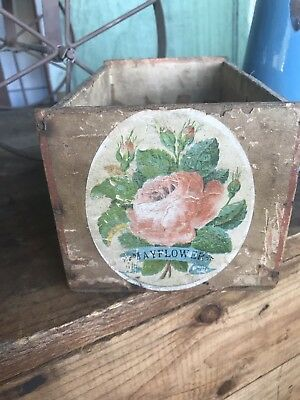 Vintage Wood Cigar Box Colorado 100 Conchas Kelker & Buller