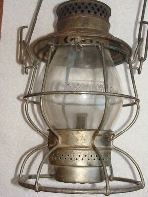 "The ""Adlake"" Chicago NorthWestern Railway Lantern Vintage Antique Railroad Rare"