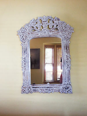 Vintage Shabby Chic Large Wall Mirror French Cottage Decor Interior Design