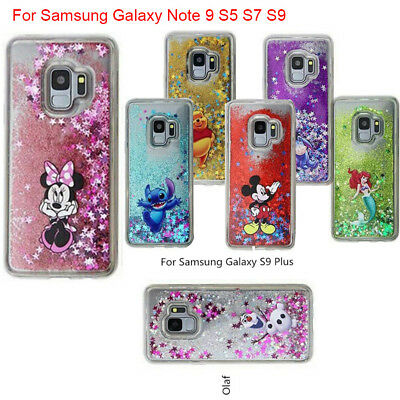huge selection of 4bc27 c71fe XMAS DISNEY MOVING Glitter Liquid Phone Cover Case For Samsung Note 8 9 S9  Plus