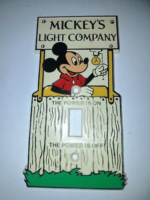 Vintage Disney Mickey Mouse Mickey's Light Company Switch Plate Cover