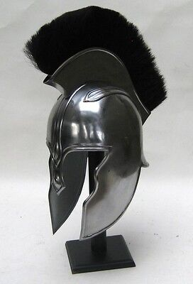 Troy Archilles Armor Helmet With Helmet Liner And Wooden Stand