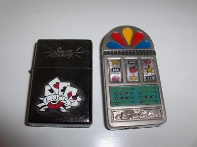 Vintage Sailor Jerry Lucky Roulette Cigarette Casino Card Gambling Lighters