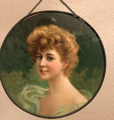 Vintage Flue Cover, Beautiful Lady .. 9 1/2''  Good Cond.