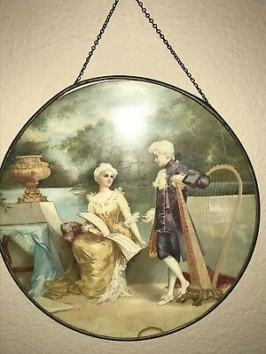 Vintage Flue Cover Of A Lady And Her Man