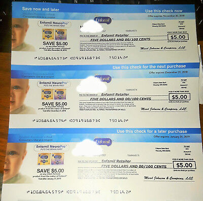 $25.00 In Any Enfamil Infant Formula Checks Coupons