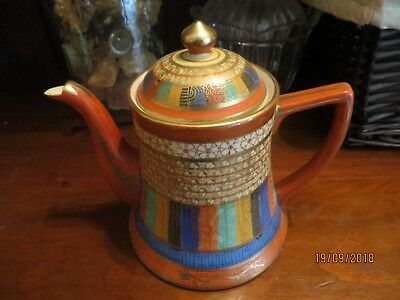 Vintage  Hand Painted 1000 Faces Teapot Made In Japan