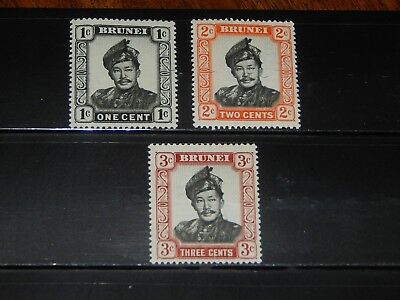 Brunei stamps for sale - 3 mint hinged early stamps - nice !!