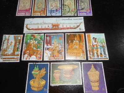 stamps Thailand misc in complete sets x 14