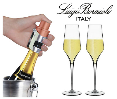 Pump It Up Champagne Stopper Silver Bronze Champagne Glass Bundle Available