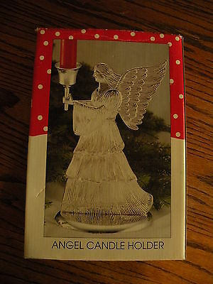 X-mas1996 silver plated angel candle holder produced by WM. Rogers & Sons 1996