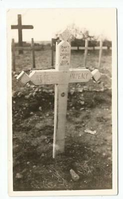 Original WW1 Photo of the Grave of the CO of 315th Infantry Machine Gun Company