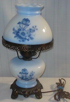 """Glass Lamp """"gone With The Wind"""" Style"""