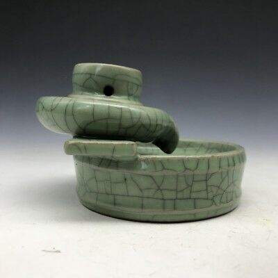 Chinese ancient ceramic incense burner by hand made of stone grinding image. x12