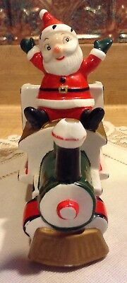 Vntg 1950's Holt Howard Ceramic Santa Claus Xmas Express Train Container Japan