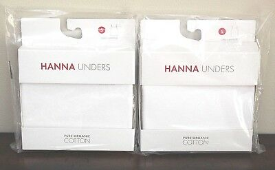 NEW Hanna Andersson WHITE CAMISOLE UNDERSHIRTS sz S 4 6 Organic Lot Cami Unders
