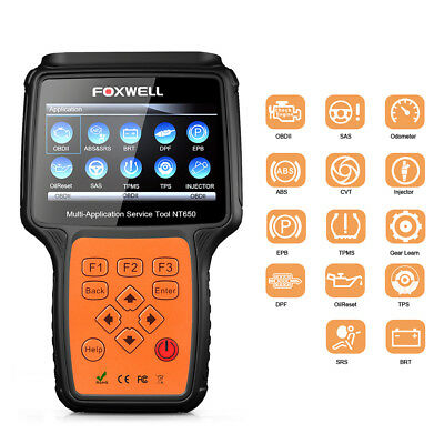 Foxwell NT650 OBDII Scanner Support Engine TPMS EPB ABS SRS EPB Oil Reset Tool