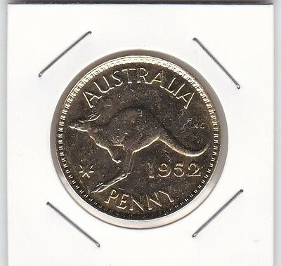 1952 Australian Gold Plated Penny Coin