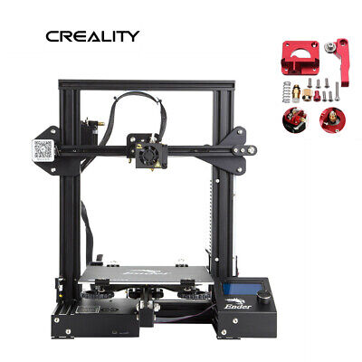 Creality Ender 3 3D Printer + Extruder Drive Feed Upgrade Kit 220X220X250mm
