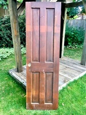 "Antique Door Solid Wood 4 Panel - 76 1/4"" x 23 1/2"" x 1 1/4"""