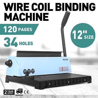 Spiral Coil Calendar Binding Machine 34 Hole Punching Binding Machine USA STOCK!