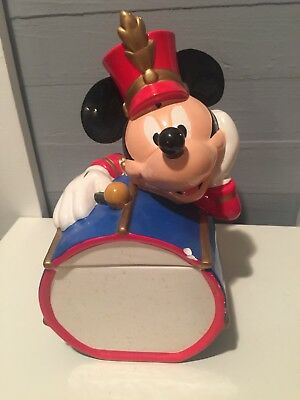 Vintage! MICKEY MOUSE Marching Band Drummer COOKIE JAR Disney Ceramic