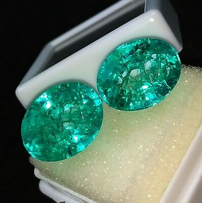 Loose Gemstones 6 to 8 Cts 2 Pieces Natural Emeralds Certified Best Offer