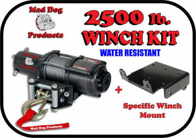 500 570 800 850 1000 G2 Mad Dog 2500lb Winch Mount Combo w//Synthetic Rope Can-Am Renegade 12-18
