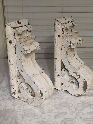 Pair Of Large Vintage Corbels Late 1800s Bardstown Ky Chippy