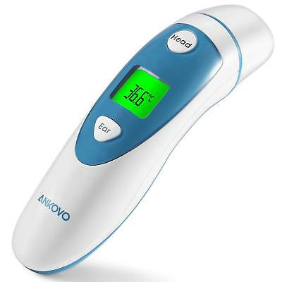 ANKOVO Medical Digital Infrared Forehead and Ear Thermometer for Baby and Adults