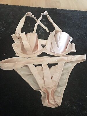 Exquisite Chantal Thomas Lingerie French Pure Silk With Swarovski Crystals NEW