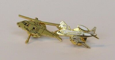 Lot Of Tie Tac Pins Blackhawk Helicopter And Lockheed Aew&c Plane  Collectibles