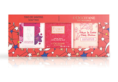 NEW L'Occitane XMAS 2018 FLORAL SOAP TRIO Gift Pack Free Post