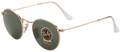0d025c7710 RAY BAN ROUND Metal Crystal Green Sunglasses RB3447 001 47 -  107.99 ...