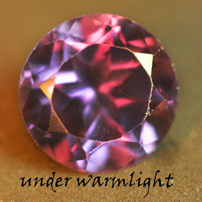 5.20ct.AWESOME RUSSIAN COLOR CHANGE ALEXANDRITE ROUND GEMSTONE