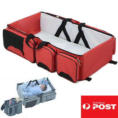 Foldable Baby Travel Bag Bed Infant Crib Portable Diaper Changing Bassinet OZ