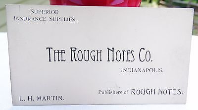 RARE 1800s THE ROUGH NOTES CO BUSINESS CARD INDIANAPOLIS INDIANA IN LH MARTIN