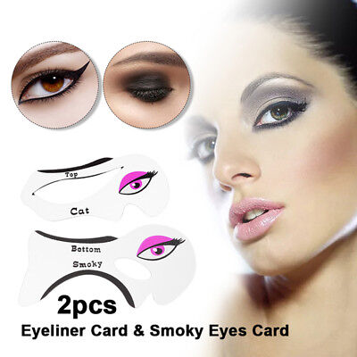 1 Pair Eyeliner Stencil Template Shaping Tools for Cat Eyeliner Smoky Makeup