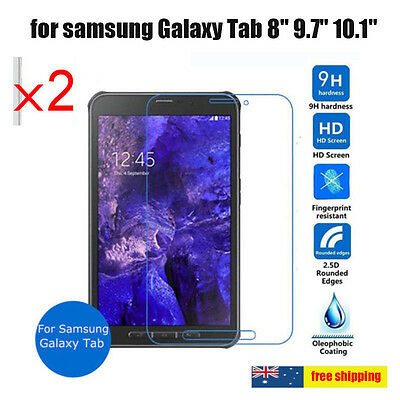 2x Table Tempered Glass Screen Protector LCD Guard For samsung Galaxy Tab Series