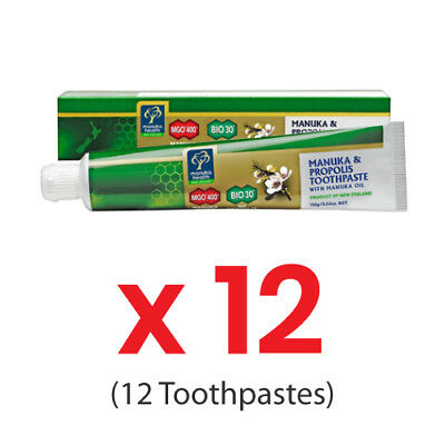 12 x Manuka Health - Propolis Toothpaste with Manuka Oil 100g (BULK SALE)