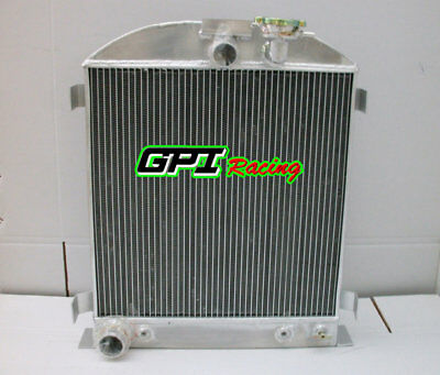 3 core 62mm ALUMINUM RADIATOR FOR FORD LOW BOY STREET ROD CHOPPED V8 1932 AT 32