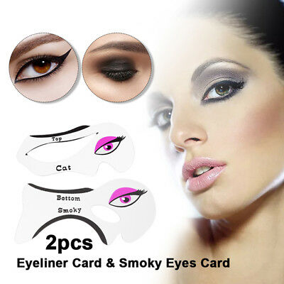 Winged Eyeliner Stencil Models for Smoky Eye Makeup Quick Cosmetic Tool 1 Pair
