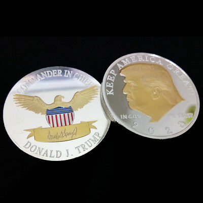 USA President Donald Trump 2020 KEEP AMERICA GREAT Silver&Gold Eagle Coin Hot